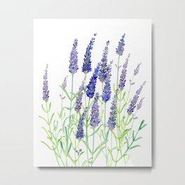 Watercolor Lavender Bouquet Metal Print