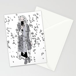 kaa on white Stationery Cards