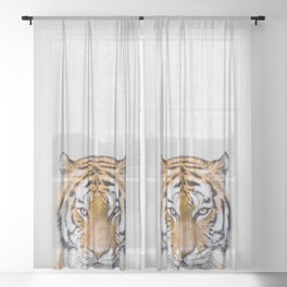 Tiger - Colorful Sheer Curtain