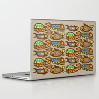 pisces Laptop & iPad Skins featuring Pisces by Olya Yang