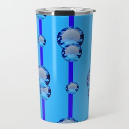 BLUE TOPAZ GEMS MODERN ART DESIGN Travel Mug
