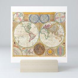 1794 Vintage World Map Samuel Dunn Mini Art Print