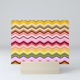Zig zag waves print Mini Art Print