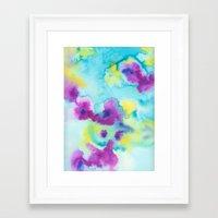 tie dye Framed Art Prints featuring Tie-Dye by Tatiana Shaffer