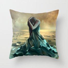 Vague à l'âme Throw Pillow