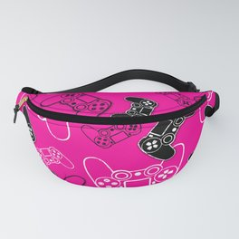Video Games Pink Fanny Pack