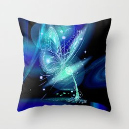 Galactic Butterfly Throw Pillow