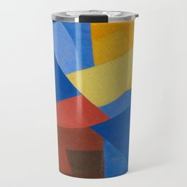 Otto Freundlich Komposition (Ca. 1932) Kunstmuseum Basel Colorful Geometric Art Travel Mug