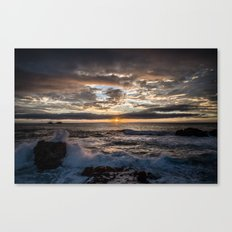 California Coast Sunset Canvas Print