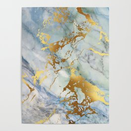 Lovely Marble with Gold Overlay Poster