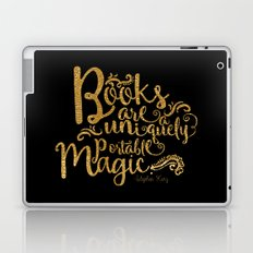 Books are a Uniquely Portable Magic Gold Laptop & iPad Skin
