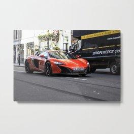Orange McLaren 650S Metal Print
