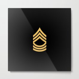 Master Sergeant (Gold) Metal Print