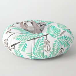 Happy Sloth – Tropical Mint Rainforest Floor Pillow