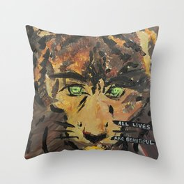 All lives are beautiful Throw Pillow