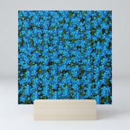 Blue sakura forest  tree so meditative and calm Mini Art Print