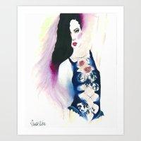 Cabaret Rose Art Print