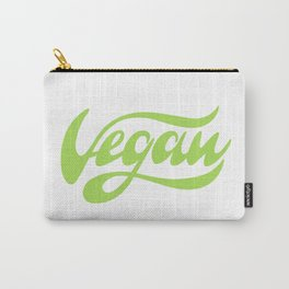 Vegan Lettering design Carry-All Pouch