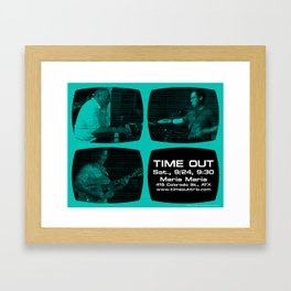 TIME OUT, MARIA MARIA (4, GREEN-BLUE) - AUSTIN, TX Framed Art Print