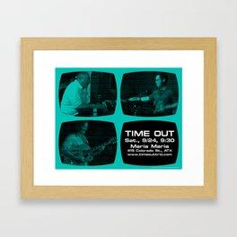 TIME OUT, MARIA MARIA (4, GREEN-BLUE) - AUSTIN, TX Framed Art Print