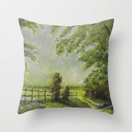 Country Path Throw Pillow