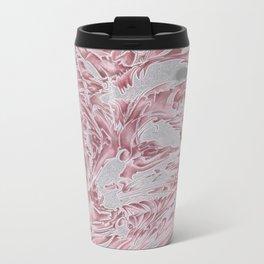 Rose Fox Metal Travel Mug
