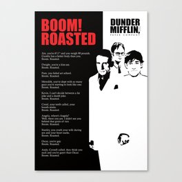 The Office Poster - Boom Roasted Canvas Print