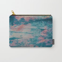 Faded blue and pink paint Carry-All Pouch