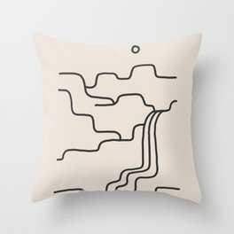 river somewhere Throw Pillow