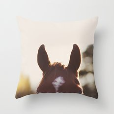 I'm all ears. Throw Pillow