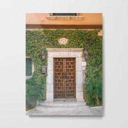 The botanical door | San Miguel de Allende | Mexico travel photography print Metal Print
