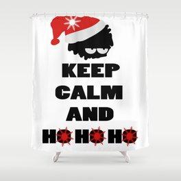 Keep calm and ho ho ho Shower Curtain