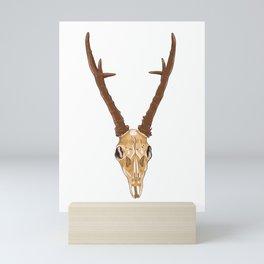 Skull of roe deer Mini Art Print
