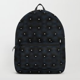 Black Velvet and Diamond Quilted Pattern Backpack