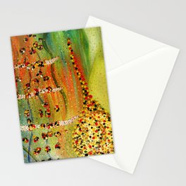 the girl, the harp, the spirit, and the song Stationery Cards