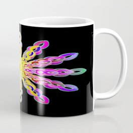 Solar Power Mandala (magenta-gold) Coffee Mug