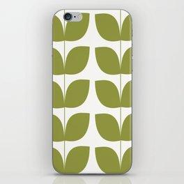 Mid Century Modern Leaves Green #society6 #buyart iPhone Skin