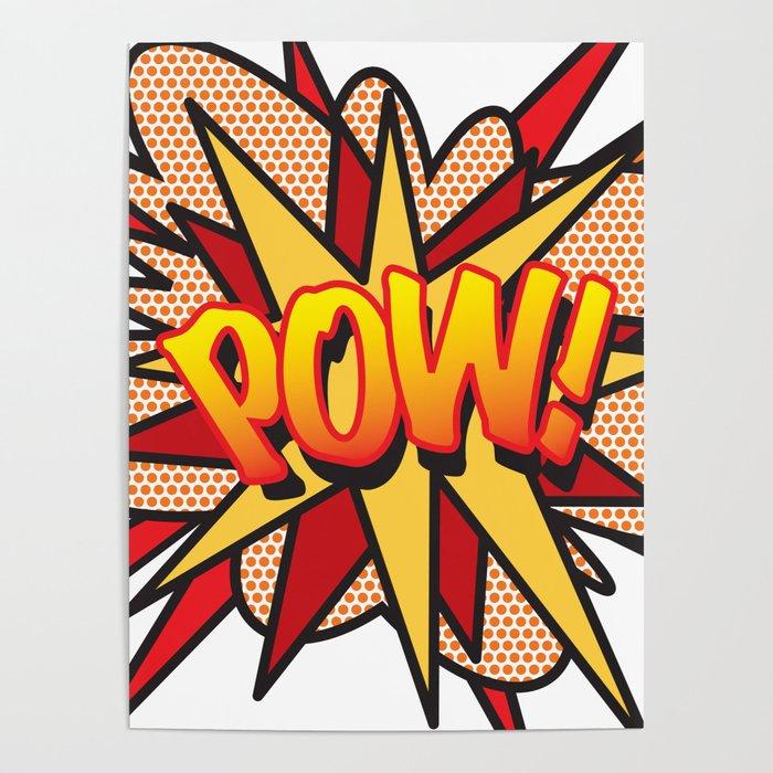 Comic Book Pop Art POW! Poster