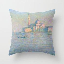 """Claude Monet """"The Church of San Giorgio Maggiore, Venice"""" Throw Pillow"""
