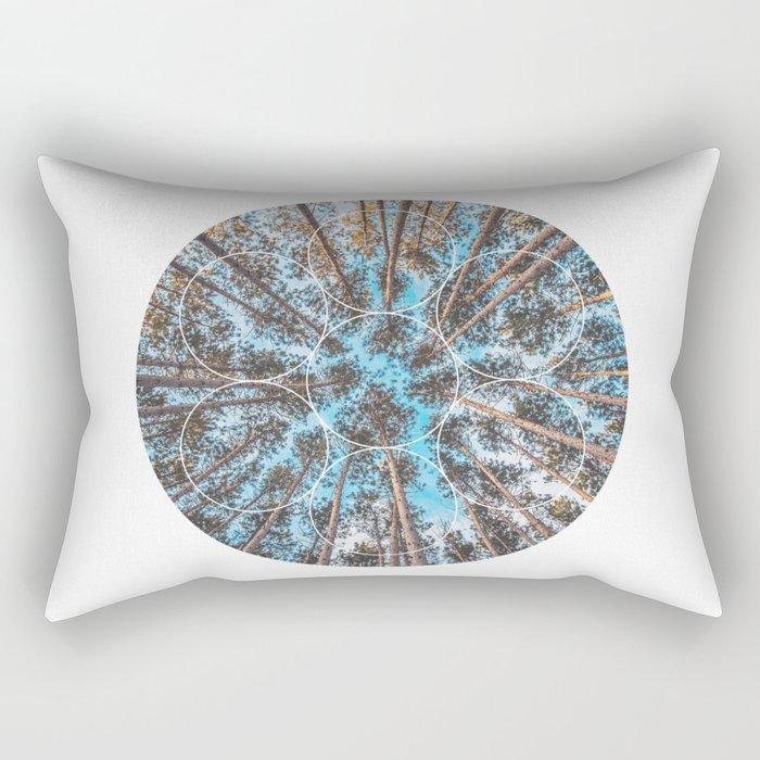 Circular Palm Trees - Geometric Photographic Rectangular Pillow