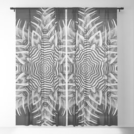 Black-and-White Abstract 23 Sheer Curtain