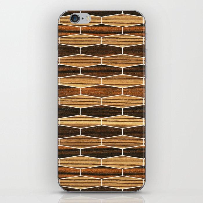 weave ebony + zebrawood iPhone Skin
