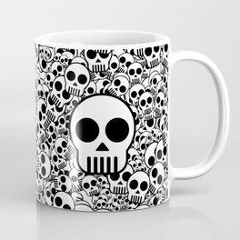 Skull Texture Black White Surface Coffee Mug