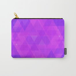 Bright purple and pink triangles in the intersection and overlay. Carry-All Pouch