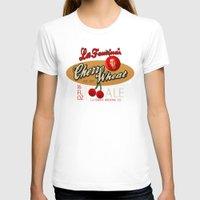 ale giorgini T-shirts featuring Cherry Wheat Ale by La Femina Brewing Co.