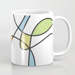 Mid Century Modern Abstract Design Coffee Mug