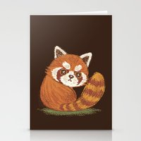 red panda Stationery Cards featuring Panda by Toru Sanogawa
