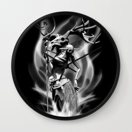 The necromancer(gray scale) Wall Clock