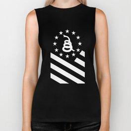 Don't Tread On Me Gadsden American Flag Biker Tank