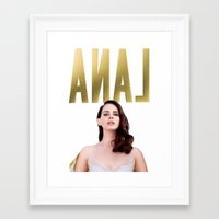 lana del rey Framed Art Prints featuring Anal Del Rey by @tylordkills